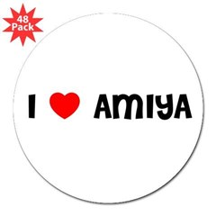 "I LOVE AMIYA 3"" Lapel Sticker (48 pk)"