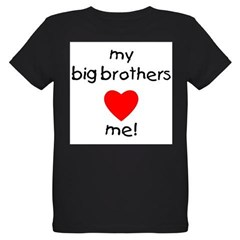 My big brothers love me Organic Kids T-Shirt (dark)