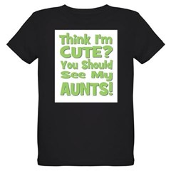 Think I'm Cute? AuntS! (PLURA Organic Kids T-Shirt (dark)