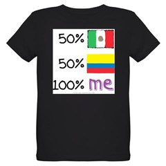 Mexican/Colombian Flag Organic Kids T-Shirt (dark)