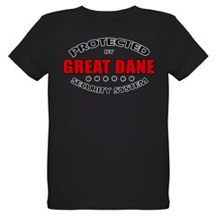 Great Dane Security Organic Kids T-Shirt (dark)