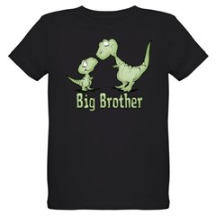 Dinosaurs Big Brother Organic Kids T-Shirt (dark)