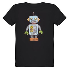Robot Organic Kids T-Shirt (dark)