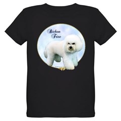 Bichon Portrait Organic Kids T-Shirt (dark)