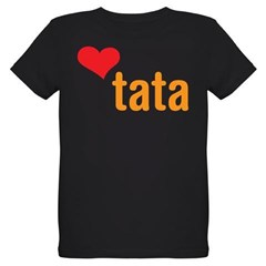 volim tata (I love dad) Organic Kids T-Shirt (dark)