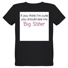 Cute Big Sister - Organic Kids T-Shirt (dark)