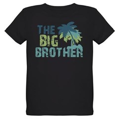big brother palm tree Organic Kids T-Shirt (dark)