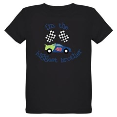 biggest brother race Organic Kids T-Shirt (dark)