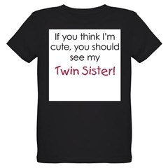 Cute Twin Sister - Organic Kids T-Shirt (dark)