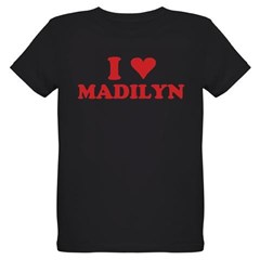 I LOVE MADILYN Organic Kids T-Shirt (dark)
