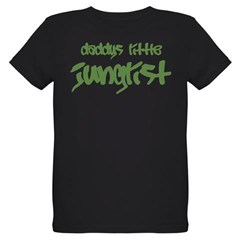Daddy's Little Junglist Organic Kids T-Shirt (dark)
