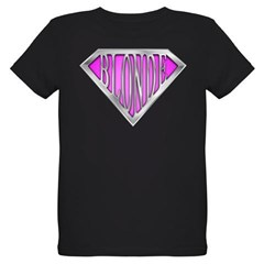 SuperBlonde(pink) Organic Kids T-Shirt (dark)