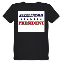 ALESSANDRO for president Organic Kids T-Shirt (dark)