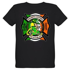Firefighter-Irish Organic Kids T-Shirt (dark)