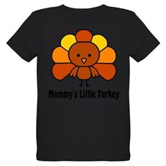 Mommy's Litttle Turkey Organic Kids T-Shirt (dark)