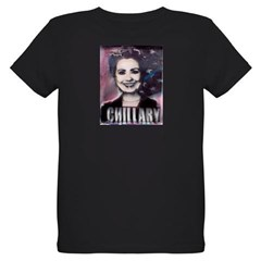 Chillary Photo Fresco Hillary Organic Kids T-Shirt (dark)