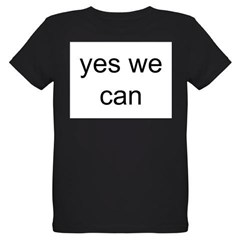 obama yes we can Organic Kids T-Shirt (dark)