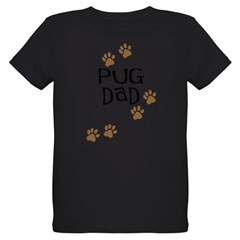 Pug Dad Organic Kids T-Shirt (dark)