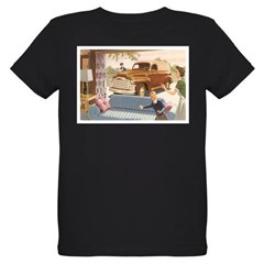 1954 GMC Panel Truck Organic Kids T-Shirt (dark)