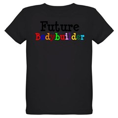 Bodybuilder Organic Kids T-Shirt (dark)
