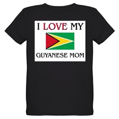 I Love My Guyanese Mom Organic Kids T-Shirt (dark)
