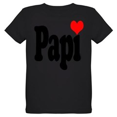 I love Papi Organic Kids T-Shirt (dark)