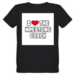 """I Love The Wrestling Coach"" Organic Kids T-Shirt (dark)"