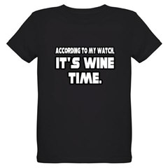 """It's Wine Time"" Organic Kids T-Shirt (dark)"