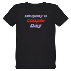 Everyday is Cooper Day Organic Kids T-Shirt (dark)