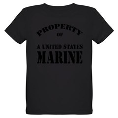 Property of a US Marine Organic Kids T-Shirt (dark)