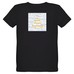 I am more than Autism Organic Kids T-Shirt (dark)