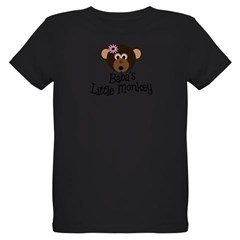 Baba's Little Monkey Organic Kids T-Shirt (dark)
