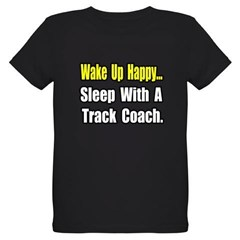 """..Sleep w/ Track Coach"" Organic Kids T-Shirt (dark)"
