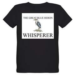 The Great Blue Heron Whisperer Organic Kids T-Shirt (dark)