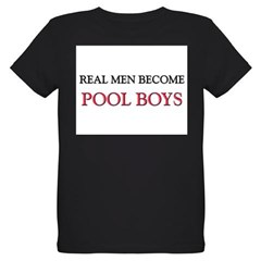 Real Men Become Pool Boys Organic Kids T-Shirt (dark)
