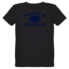 Property of Triathlon Icons Organic Kids T-Shirt (dark)