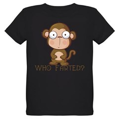 Who Farted? Organic Kids T-Shirt (dark)