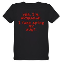adorable like my aunt Organic Kids T-Shirt (dark)