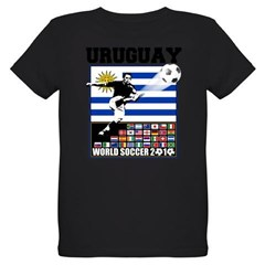 Uruguay World Soccer Futbol Organic Kids T-Shirt (dark)