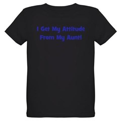 I Get My Attitude from My Aun Organic Kids T-Shirt (dark)