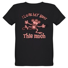 I love my Aunt Organic Kids T-Shirt (dark)
