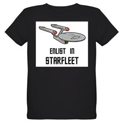 Enlist in Starfleet Organic Kids T-Shirt (dark)