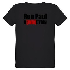 Ron Paul Revolution Organic Kids T-Shirt (dark)