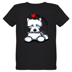 I Love Westies Organic Kids T-Shirt (dark)