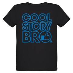 Cool Story Bro Organic Kids T-Shirt (dark)