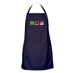 Peace Love America Apron (dark)
