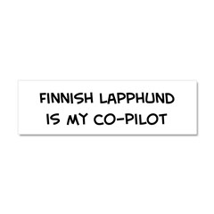 Co-pilot: Finnish Lapphund Car Magnet 10 x 3