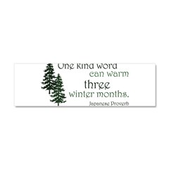Kind Word Car Magnet 10 x 3