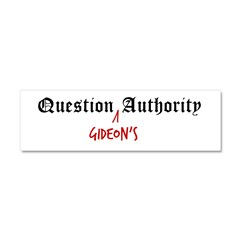 Question Gideon Authority Car Magnet 10 x 3