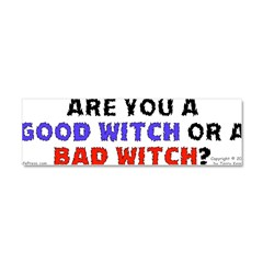Good Witch or Bad Witch? Car Magnet 10 x 3
